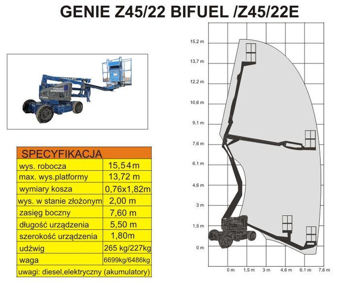 podnośnik GENIE Z45/22 BIFUEL schemat