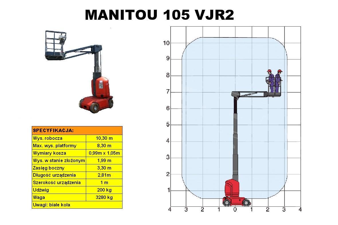 podnośnik MANITOU 105 VJR2 - wykres